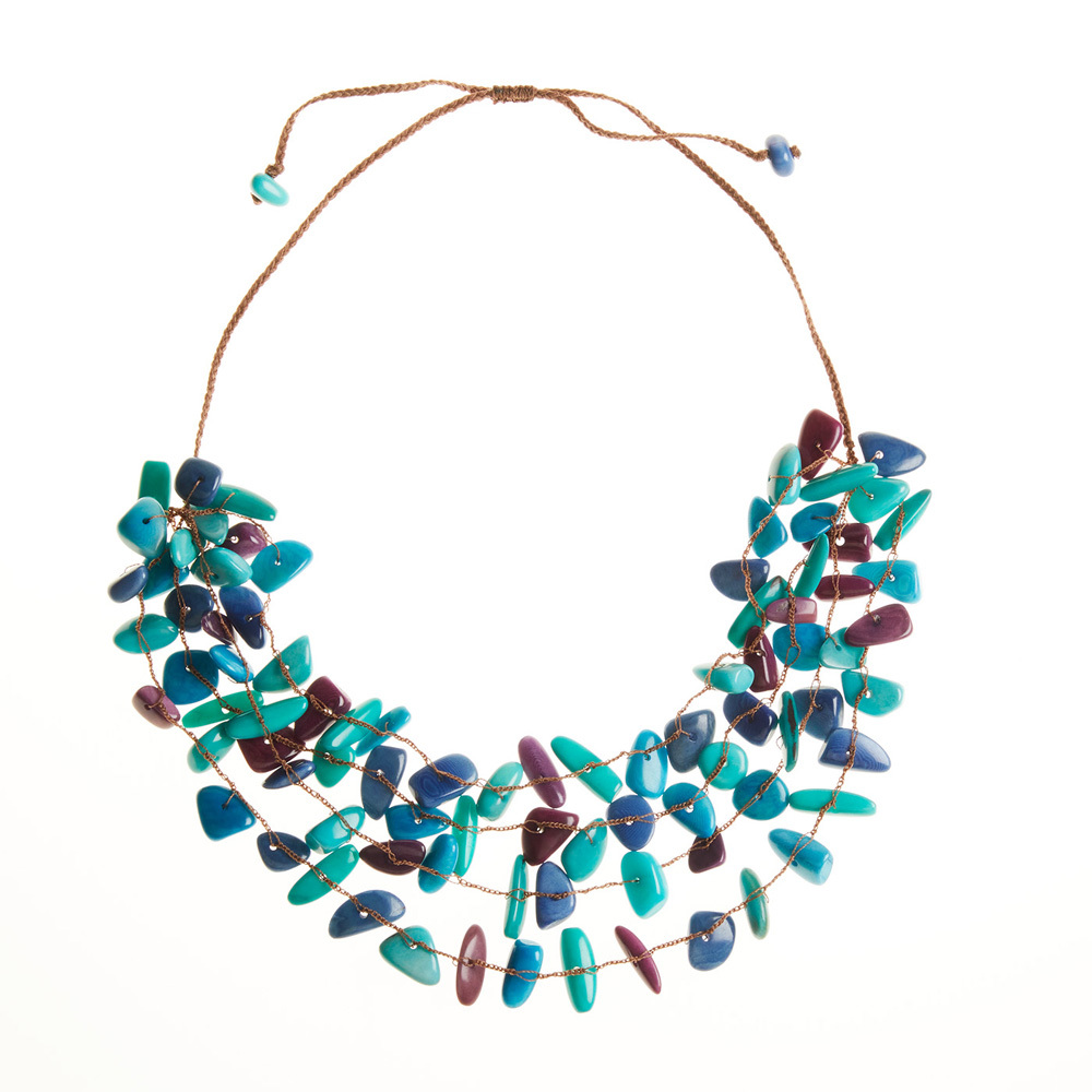 Tagua Cool Pebble Necklace