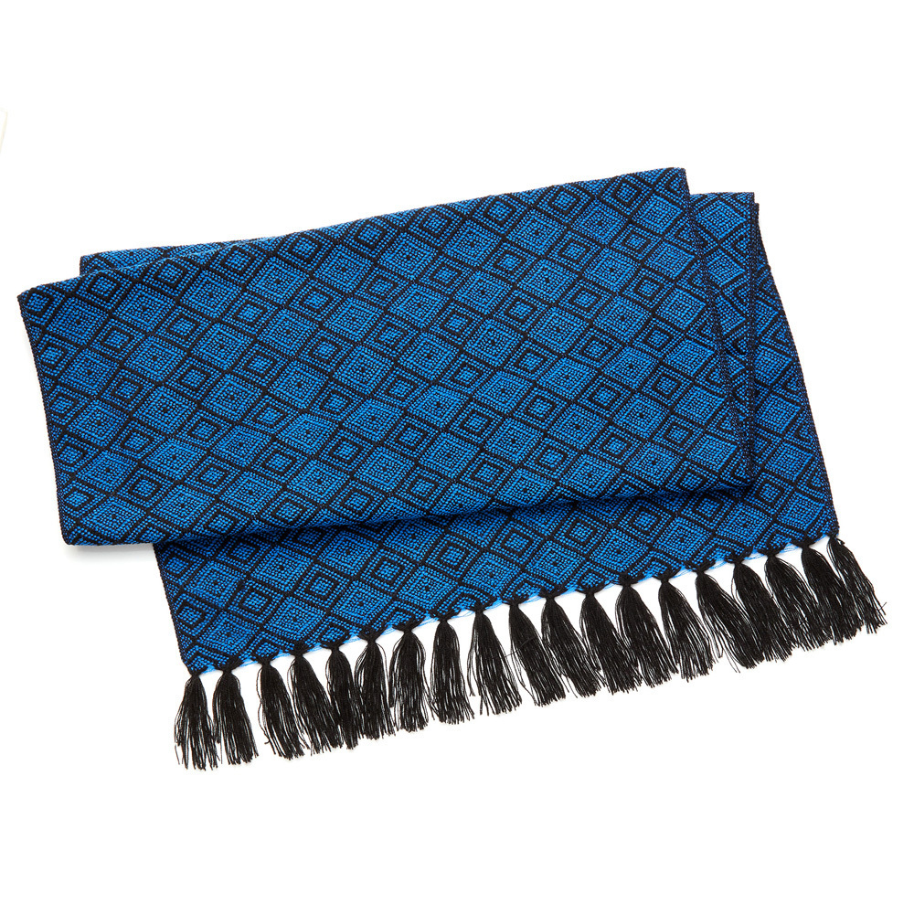 Otavalo Diamond Throw - Black & Blue