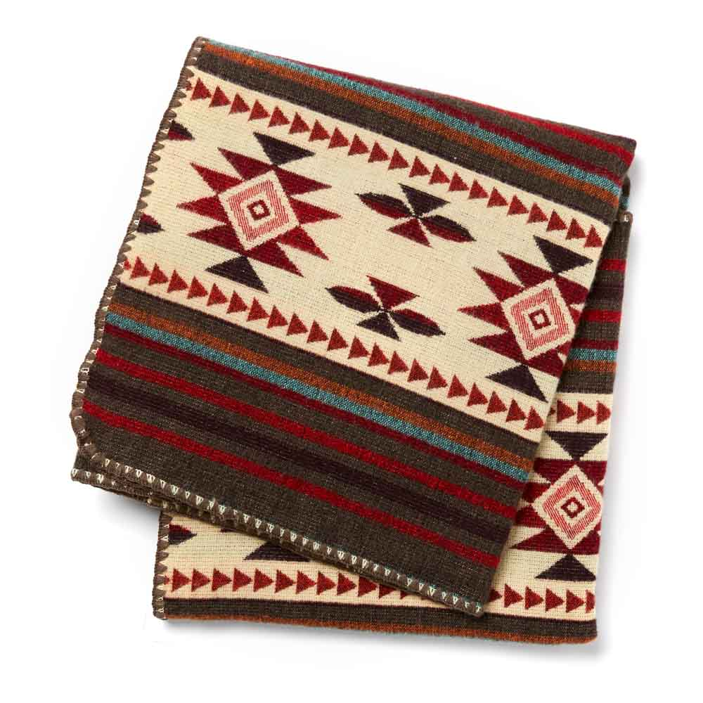 La Sierra Red Woven Throw