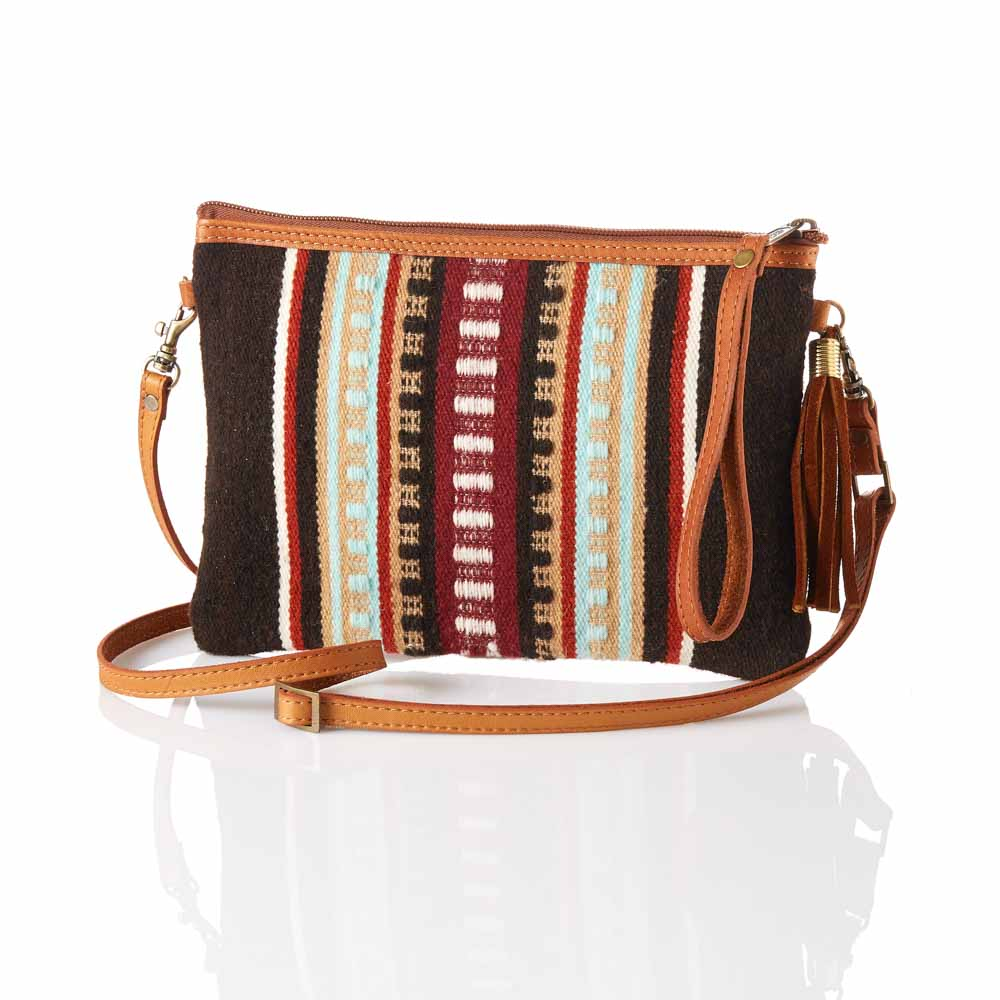 Rayas Tapestry Crossbody Clutch
