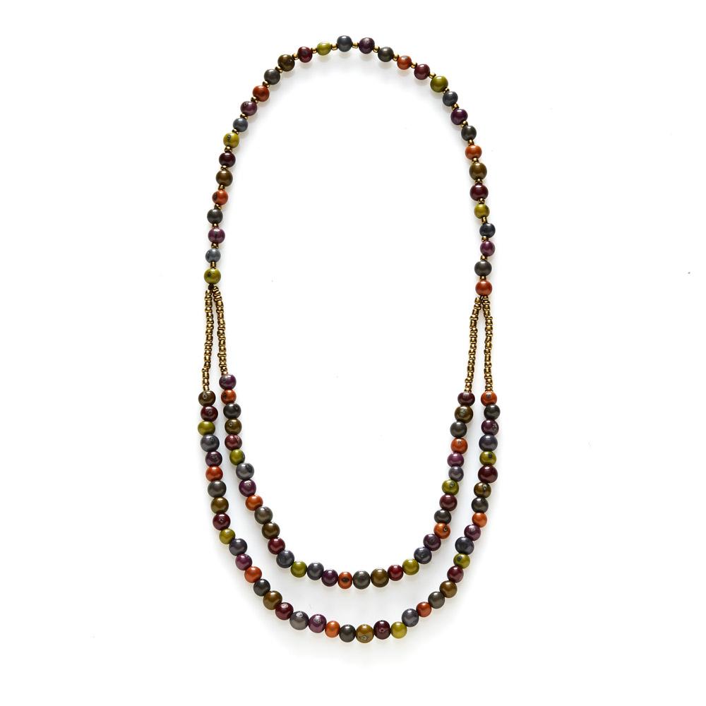 Autumn Acai Bead Necklace