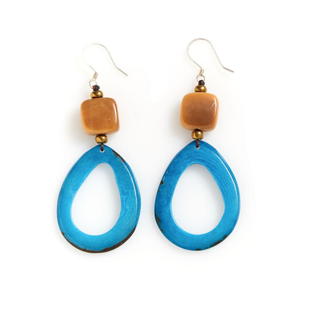Raindrop Tagua Earrings