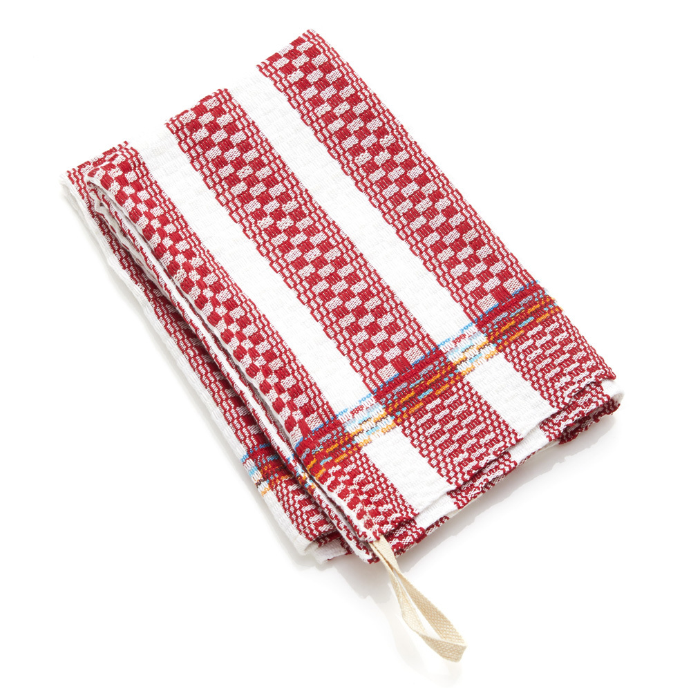 Egyptian Cotton Dish Towel - Red Stripe