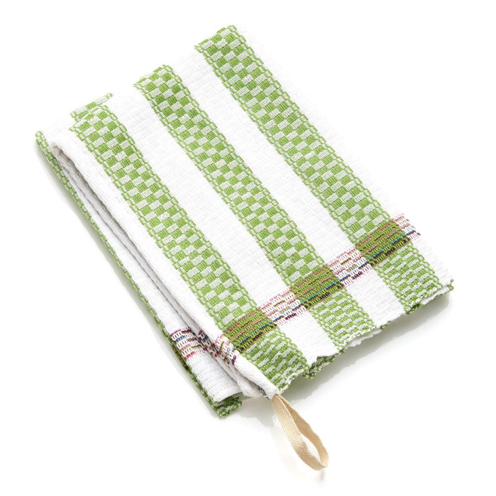 Egyptian Cotton Dish Towel - Green Stripe