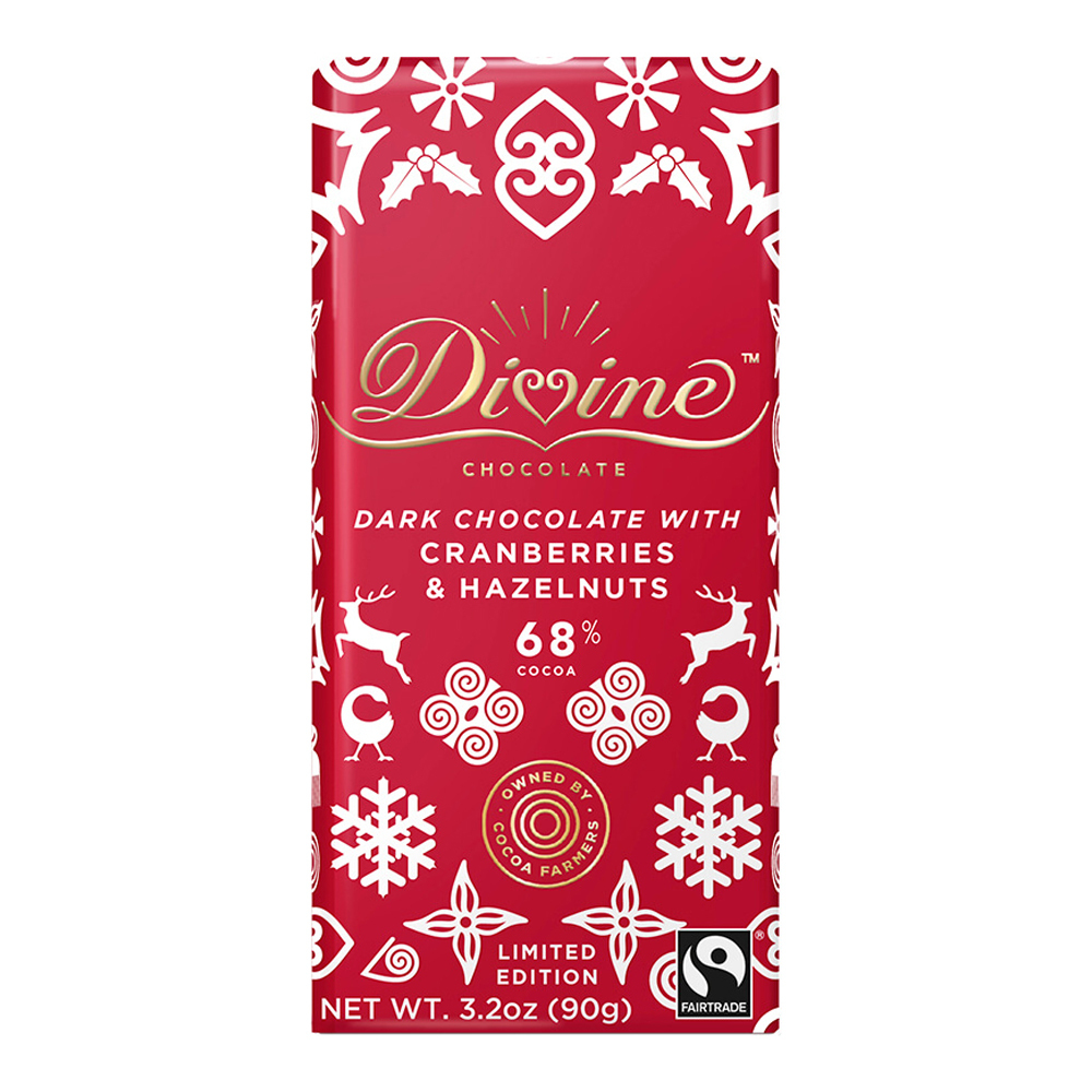 68% Dark with Hazelnuts & Cranberries Large Bar Case