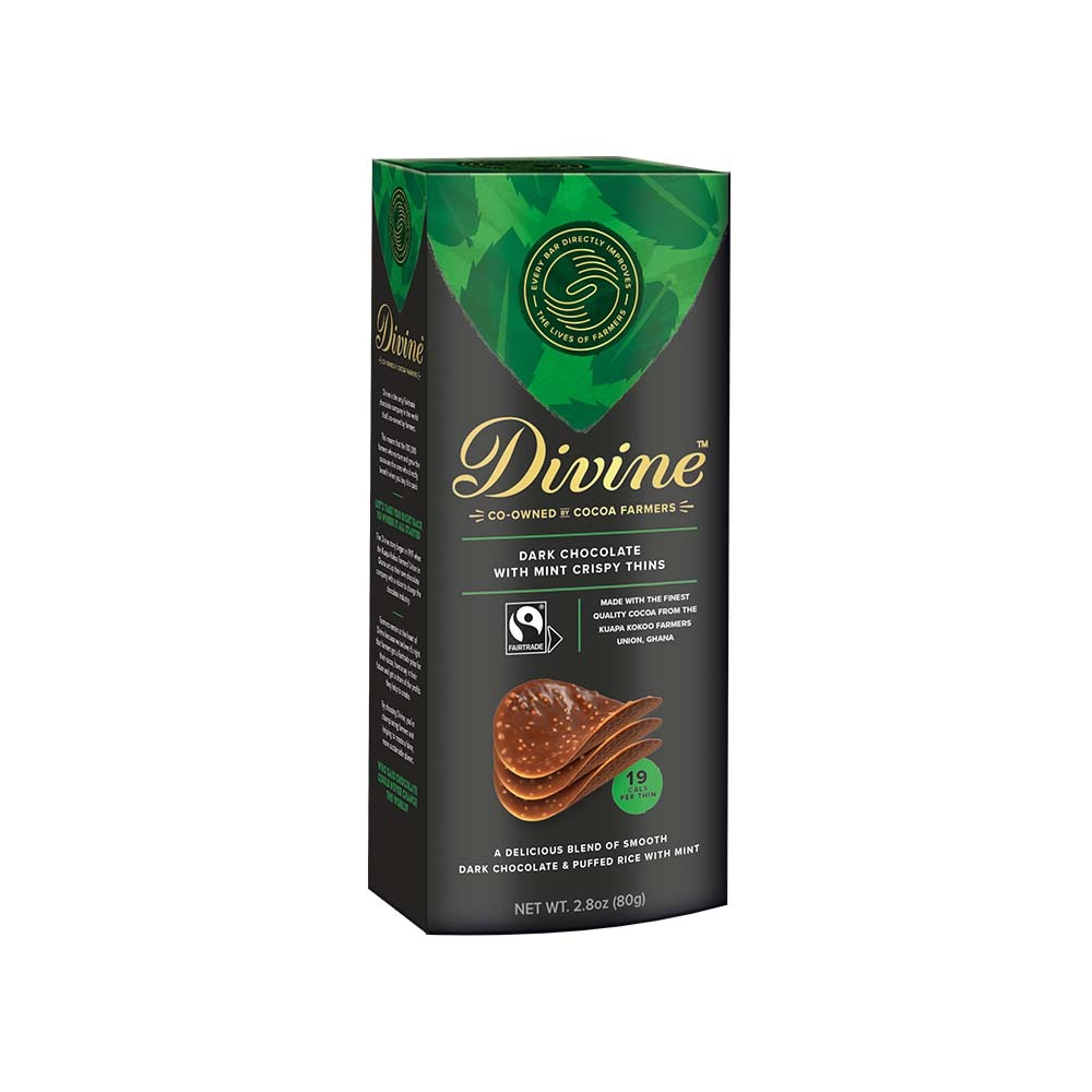Dark Chocolate Mint Thin Crisps