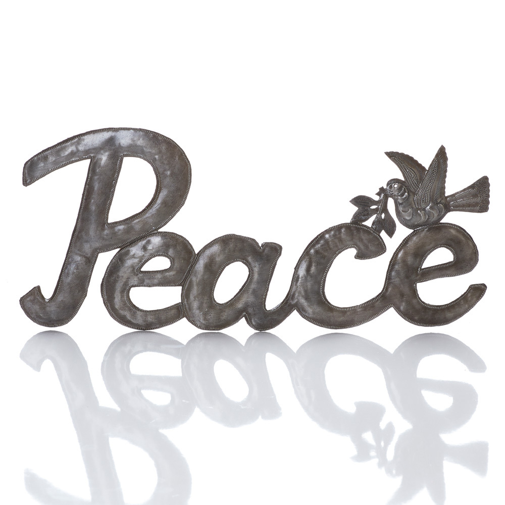 Recycled Metal Peace Art