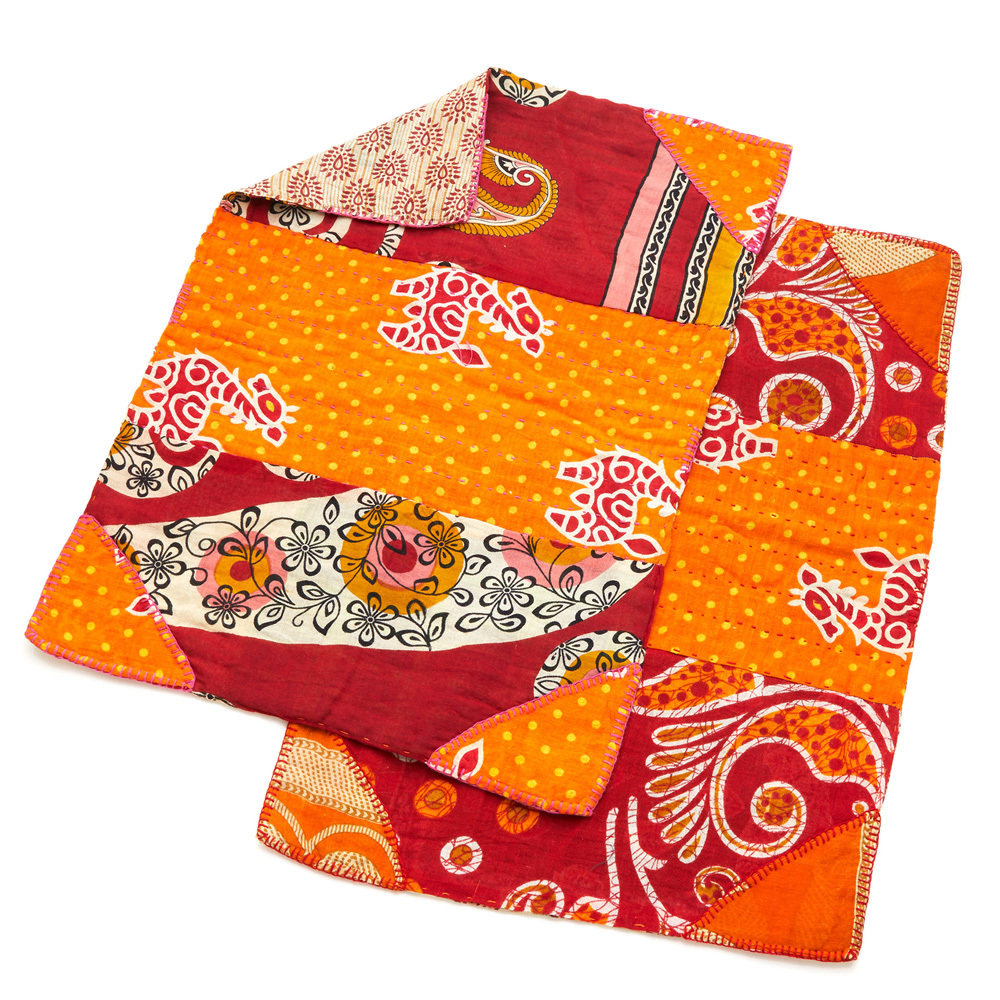 Warm Tones Kantha Placemats Set