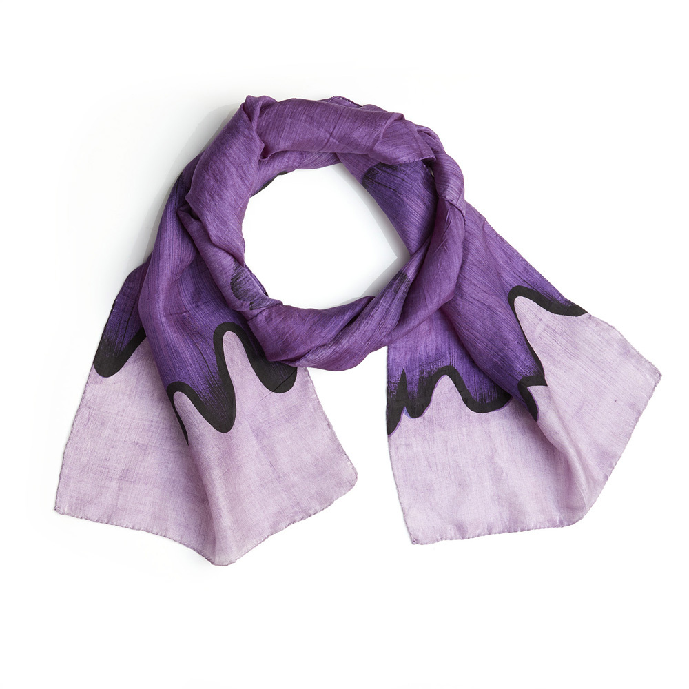 Purple Wave Scarf