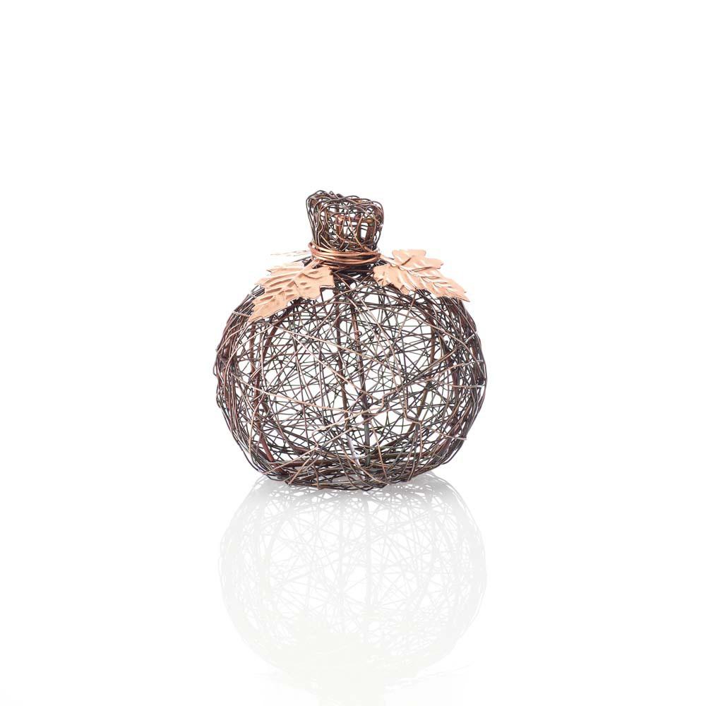 Copper Small Wire-Wrapped Pumpkin