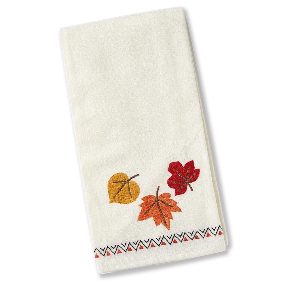 Falling Leaves Tea Towel