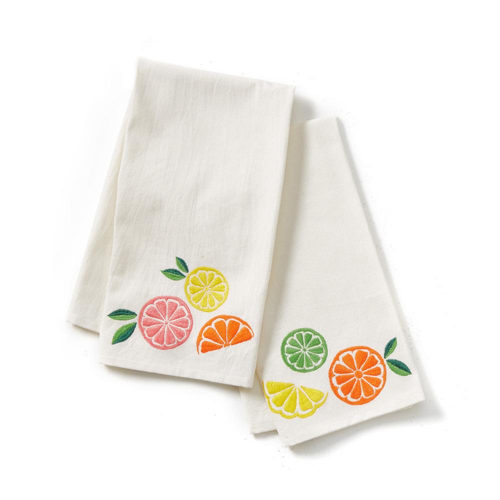 Citrus Tea Towels - Set of 2