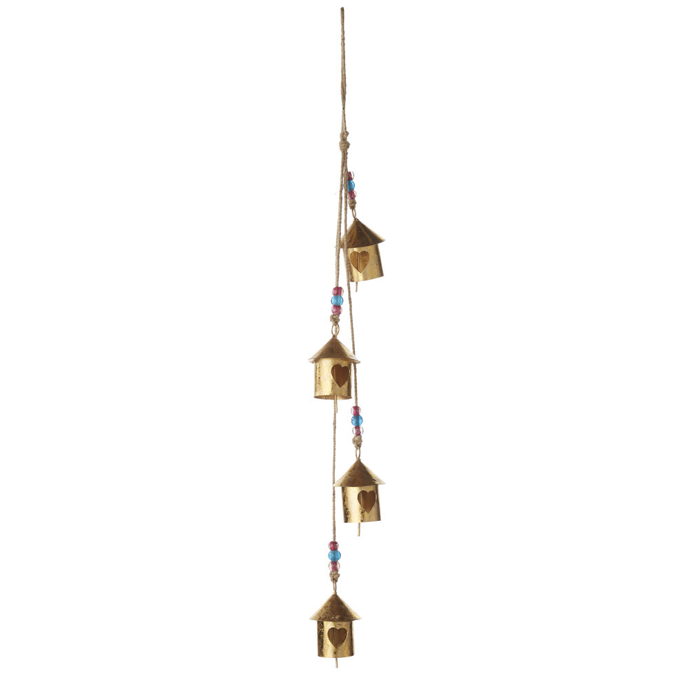 Birdhouse Village Metal Bell Hanger