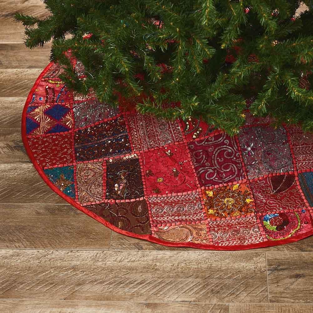 Glittering Patchwork Tree Skirt