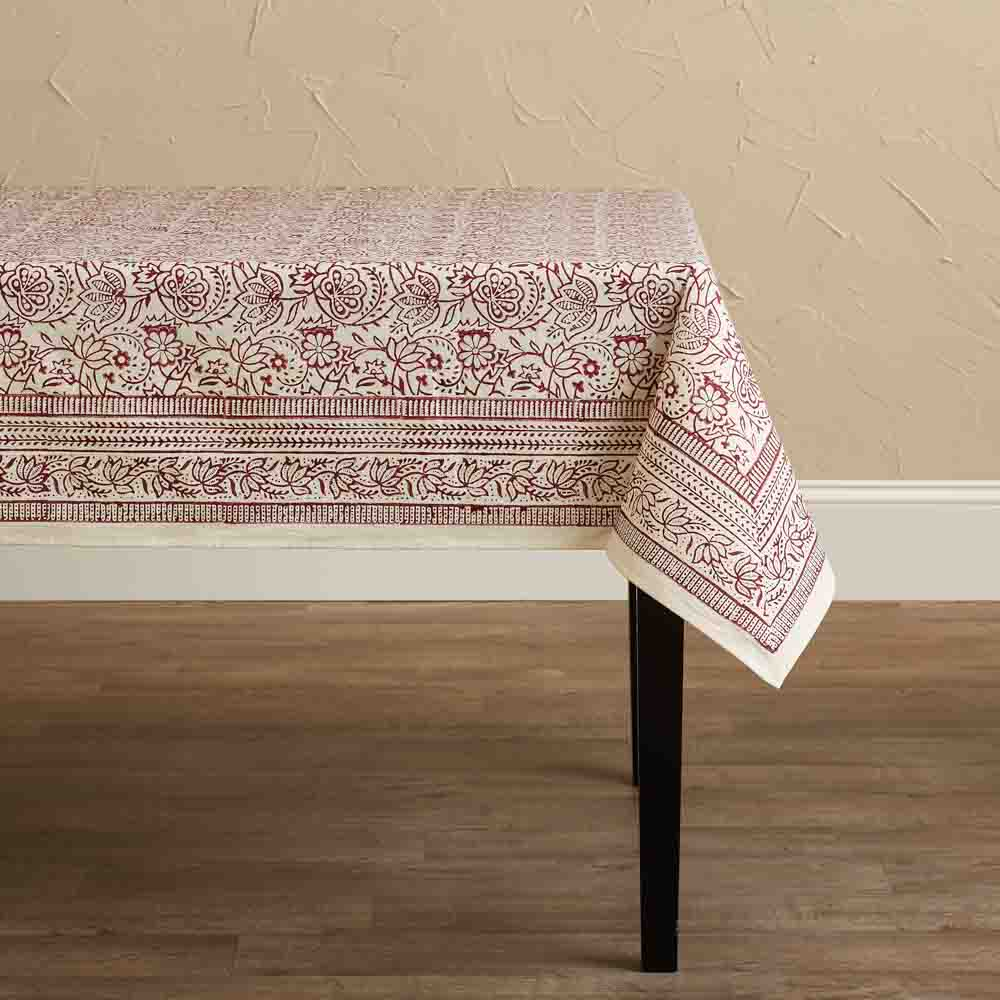 Cranberry Vine Tablecloth