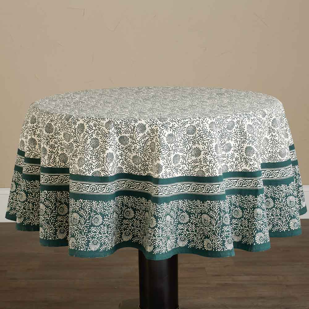 Spruce Round Tablecloth