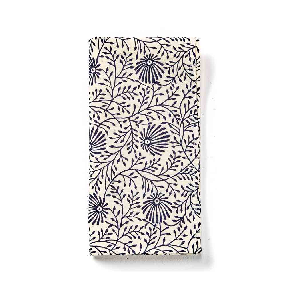 Navy Wildflower Napkins Set
