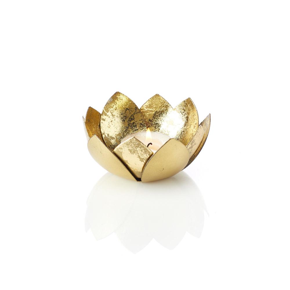 Golden Lotus Votive Holder