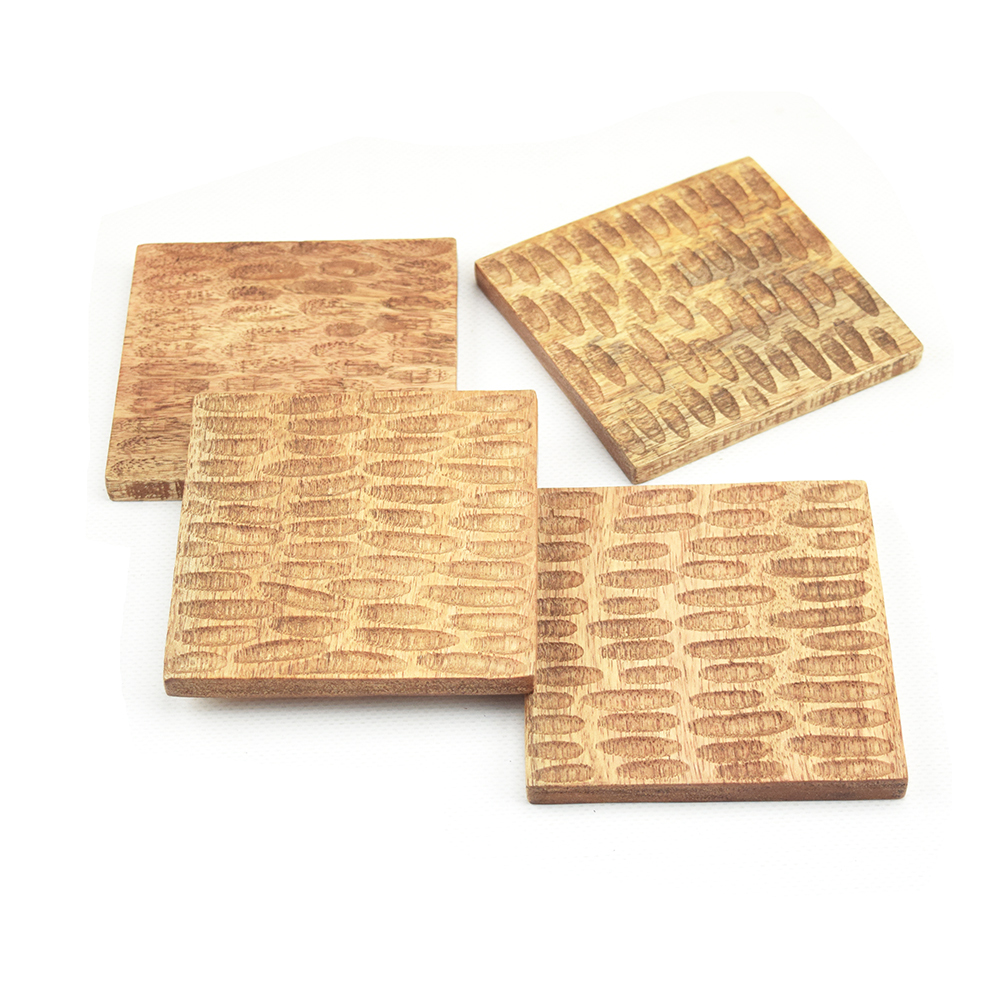 Mango Wood Coasters - Set of 4