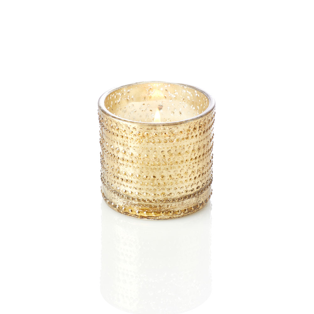 Small Golden Dots Candle Holder