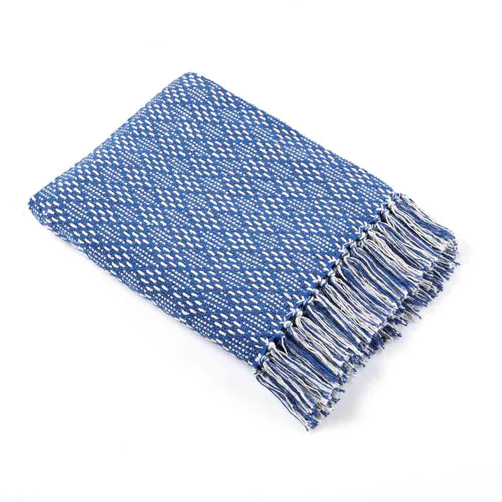 Blue Diamond Rethread Throw
