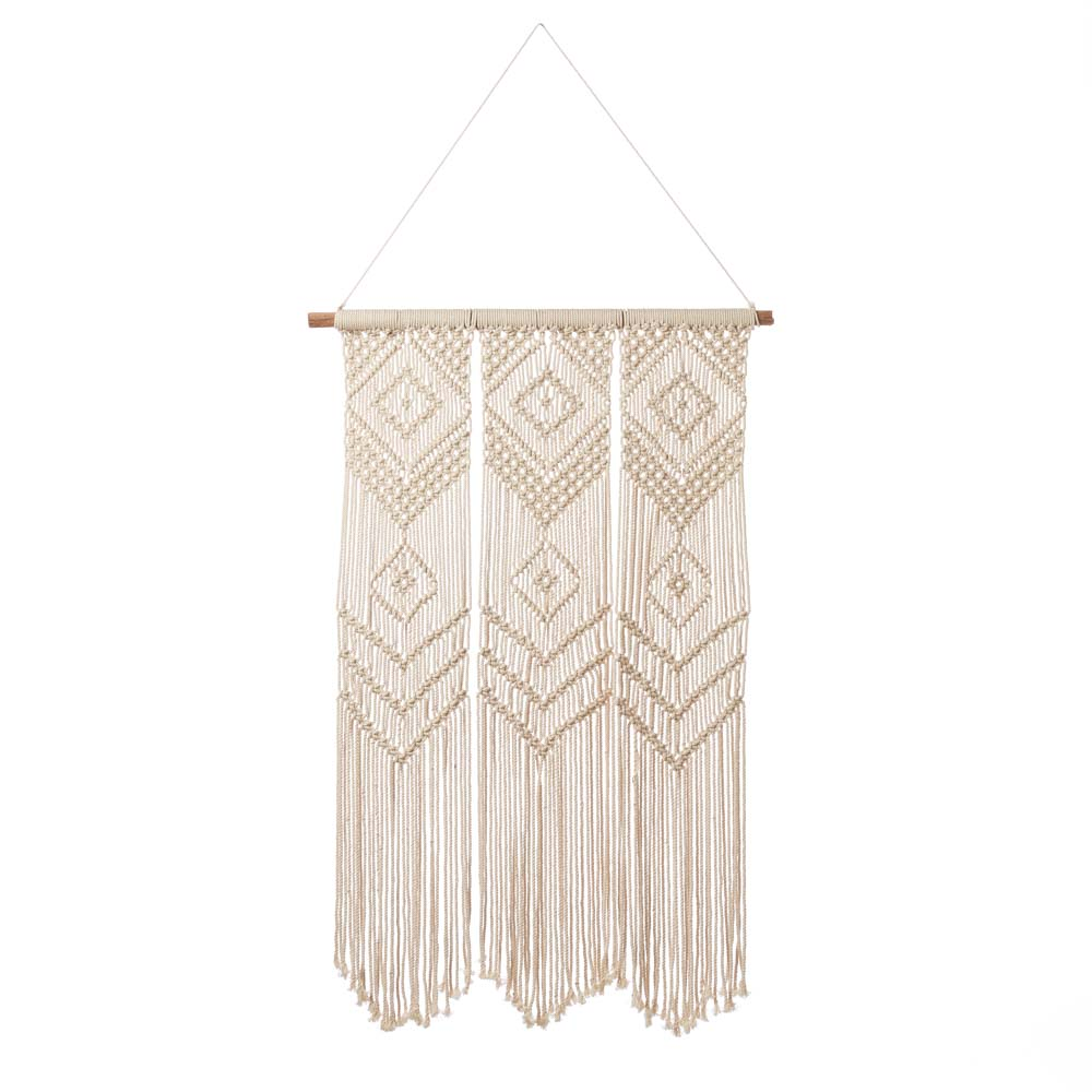 Triptych Macrame Wall Hanging