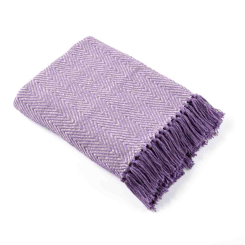 Lavender Herringbone Rethread Throw