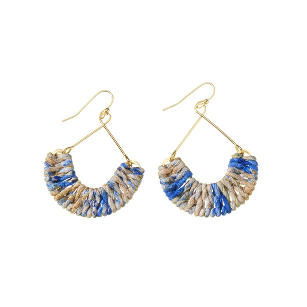 Cool Mayra Twisted Sari Earrings