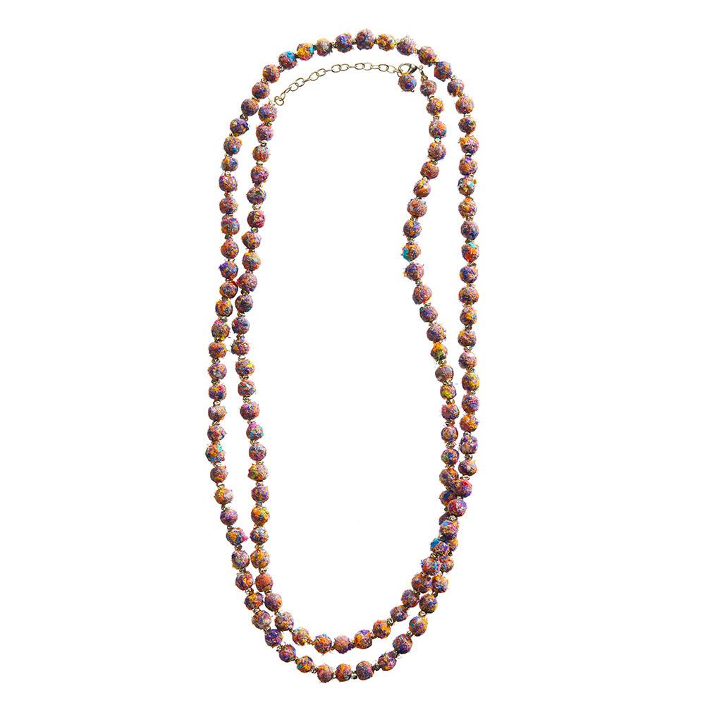 Mosaic Brushed Sari Necklace