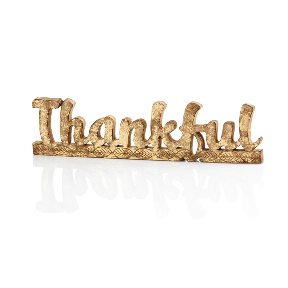 Thankful Rustic Word Art