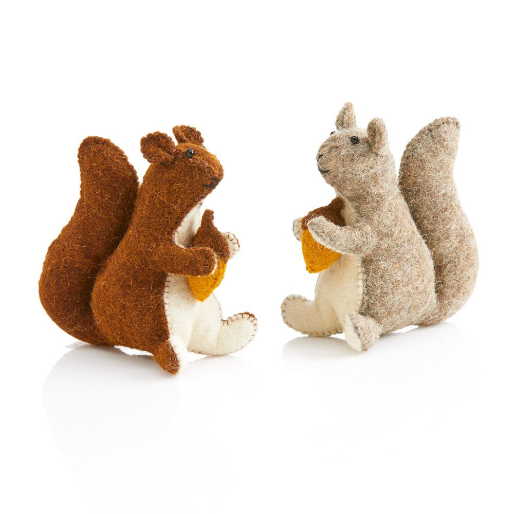 Felt Squirrel Friends