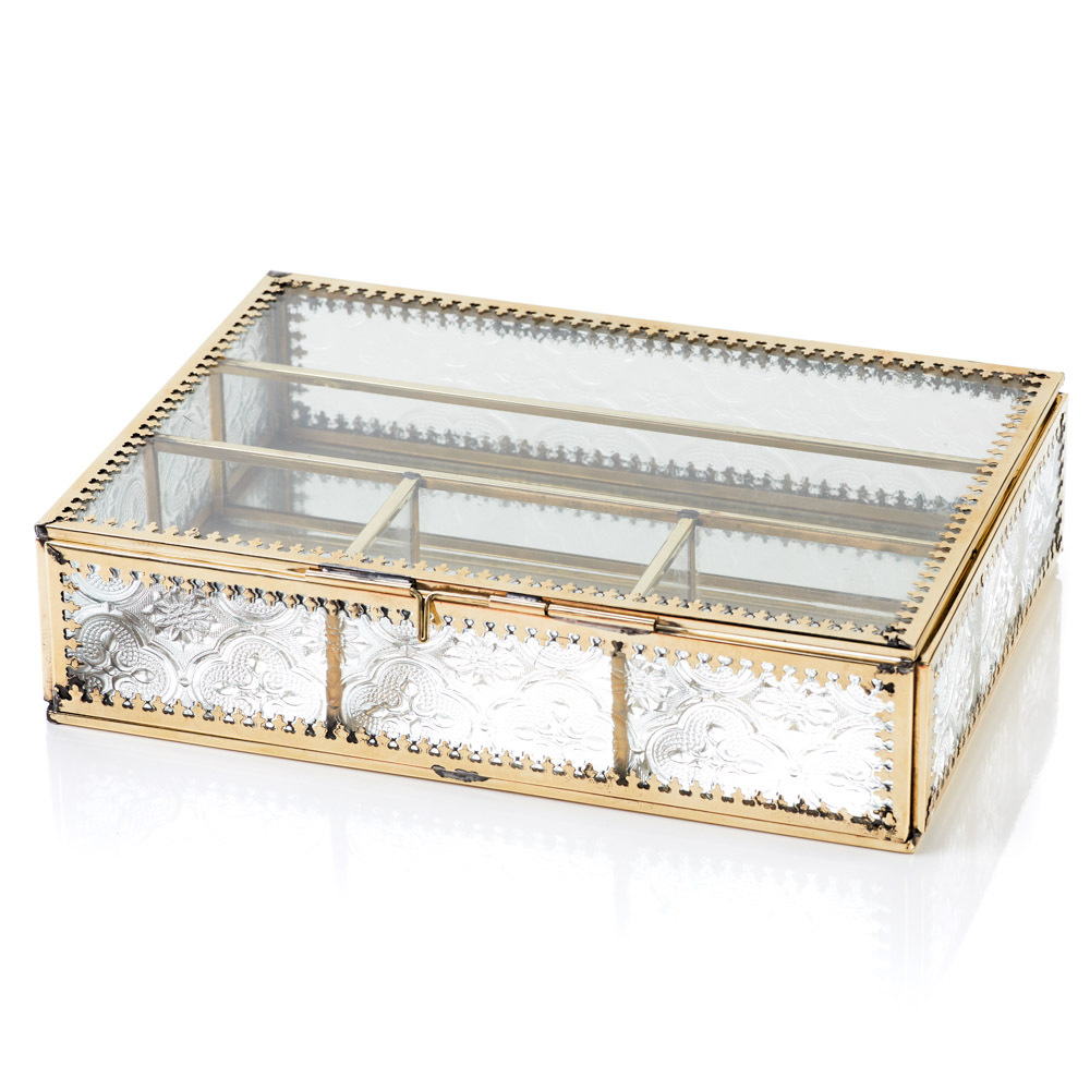 Jadani Glass Jewelry Box