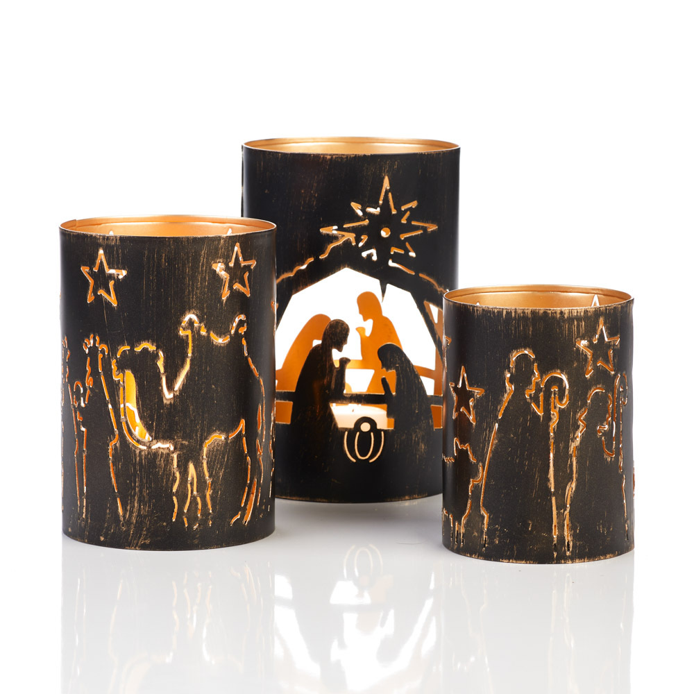 Nativity Story Lanterns - Set of 3