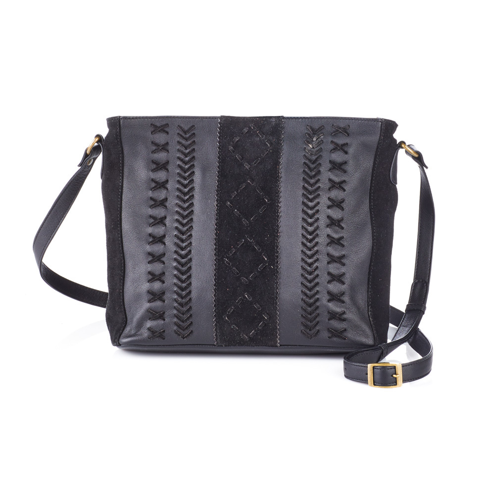 Jet Braided Crossbody Bag