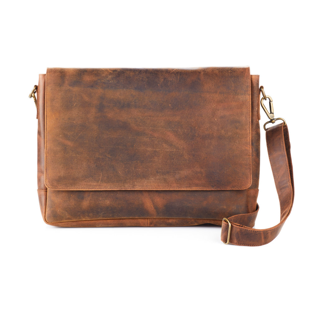 Rustic Leather Messenger Bag
