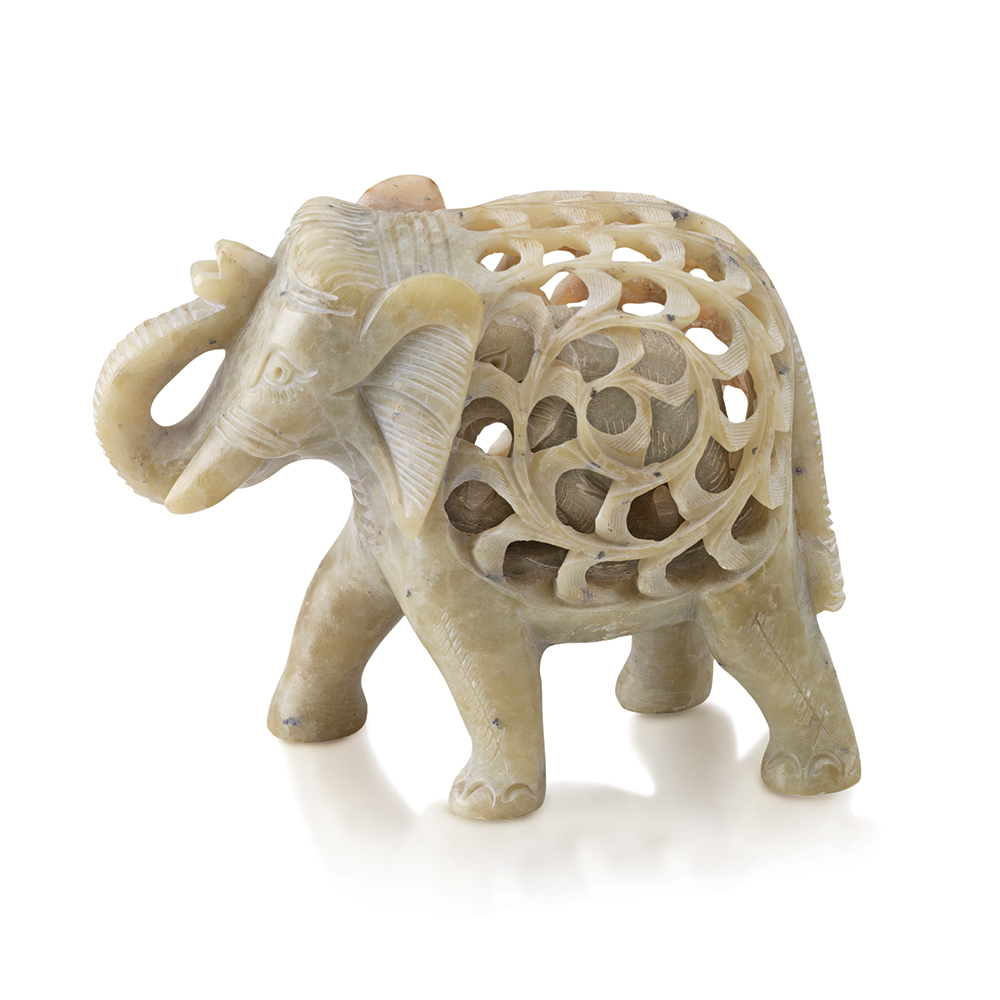 Double-Carved Gorara Elephant