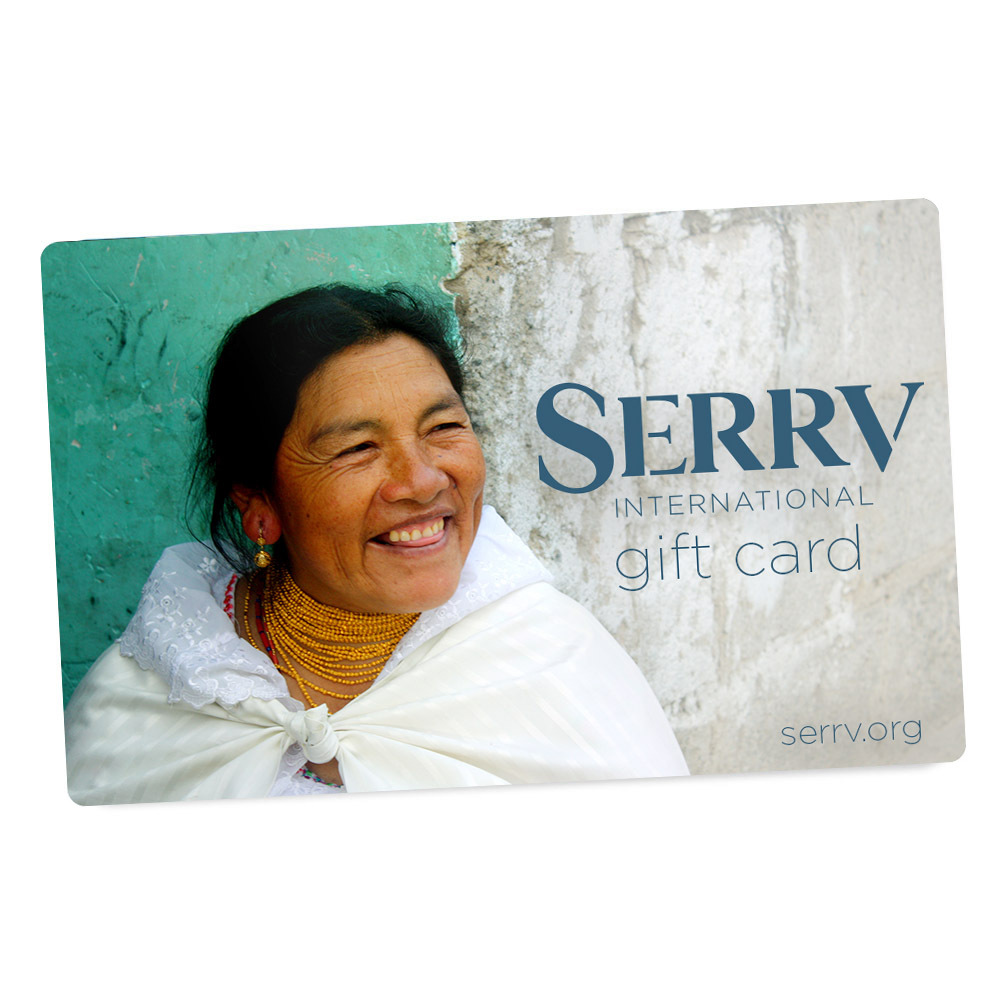 Mailed SERRV Gift Card