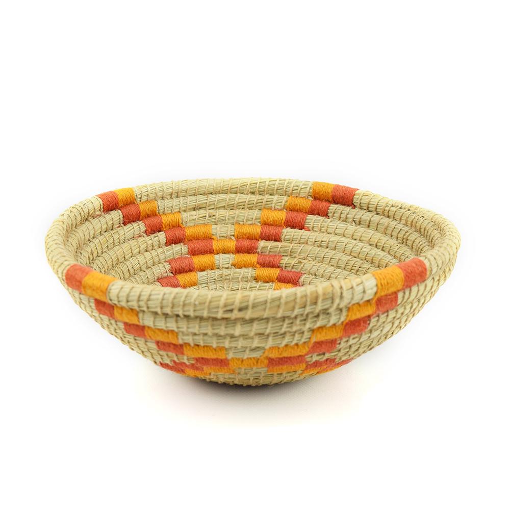 Saffron Stripe Basket