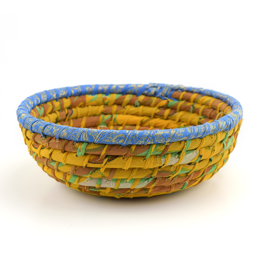 Round Gold Chindi Basket