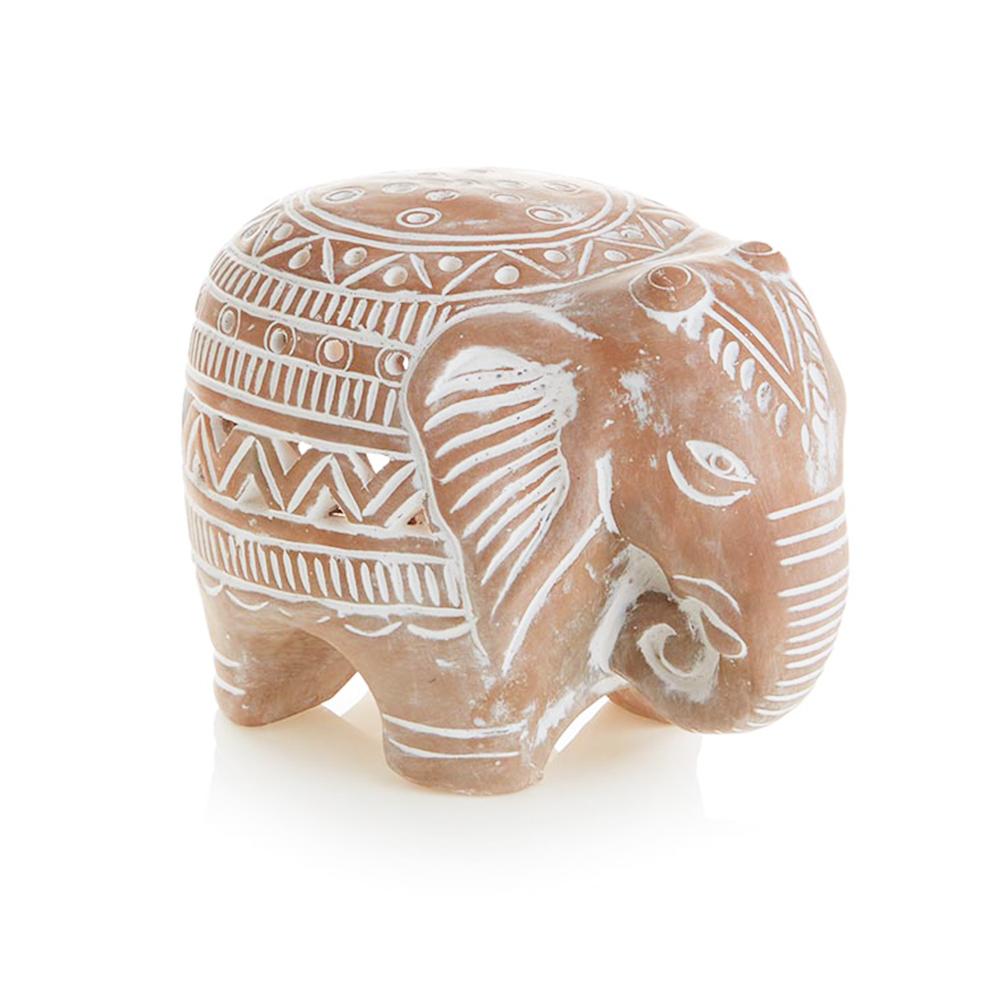 Terracotta Elephant Lantern