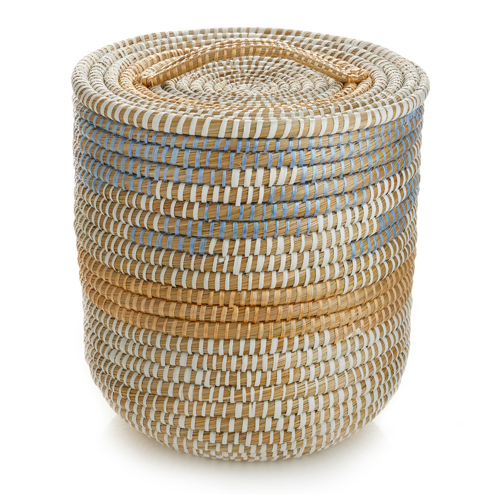 Tall Lidded Seashore Basket (XL)