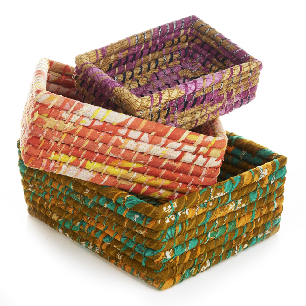 Nesting Sari Basket Set