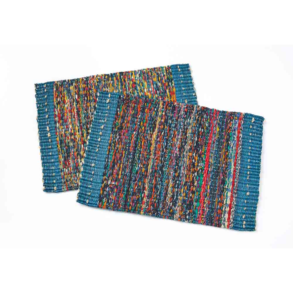 Teal Sari Placemat Set