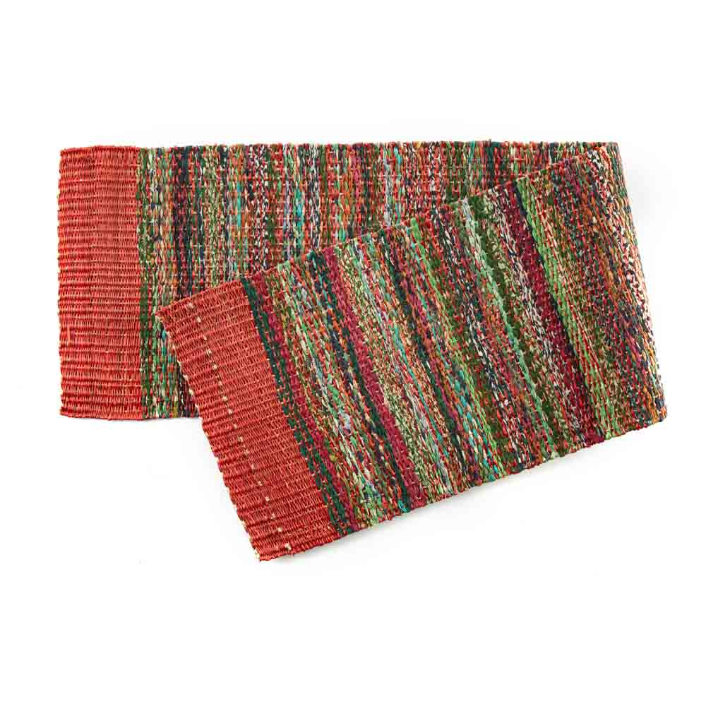 Red Sari Table Runner