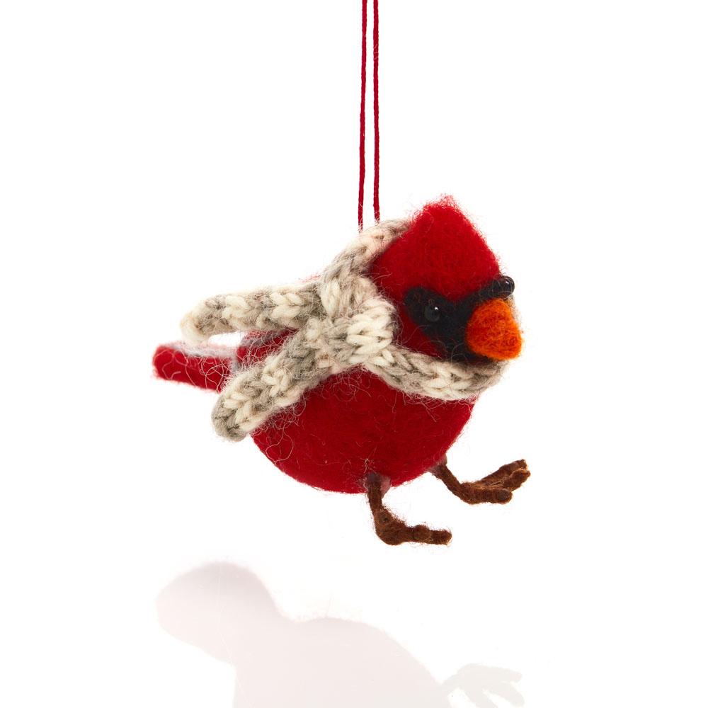 Cozy Cardinal Ornament