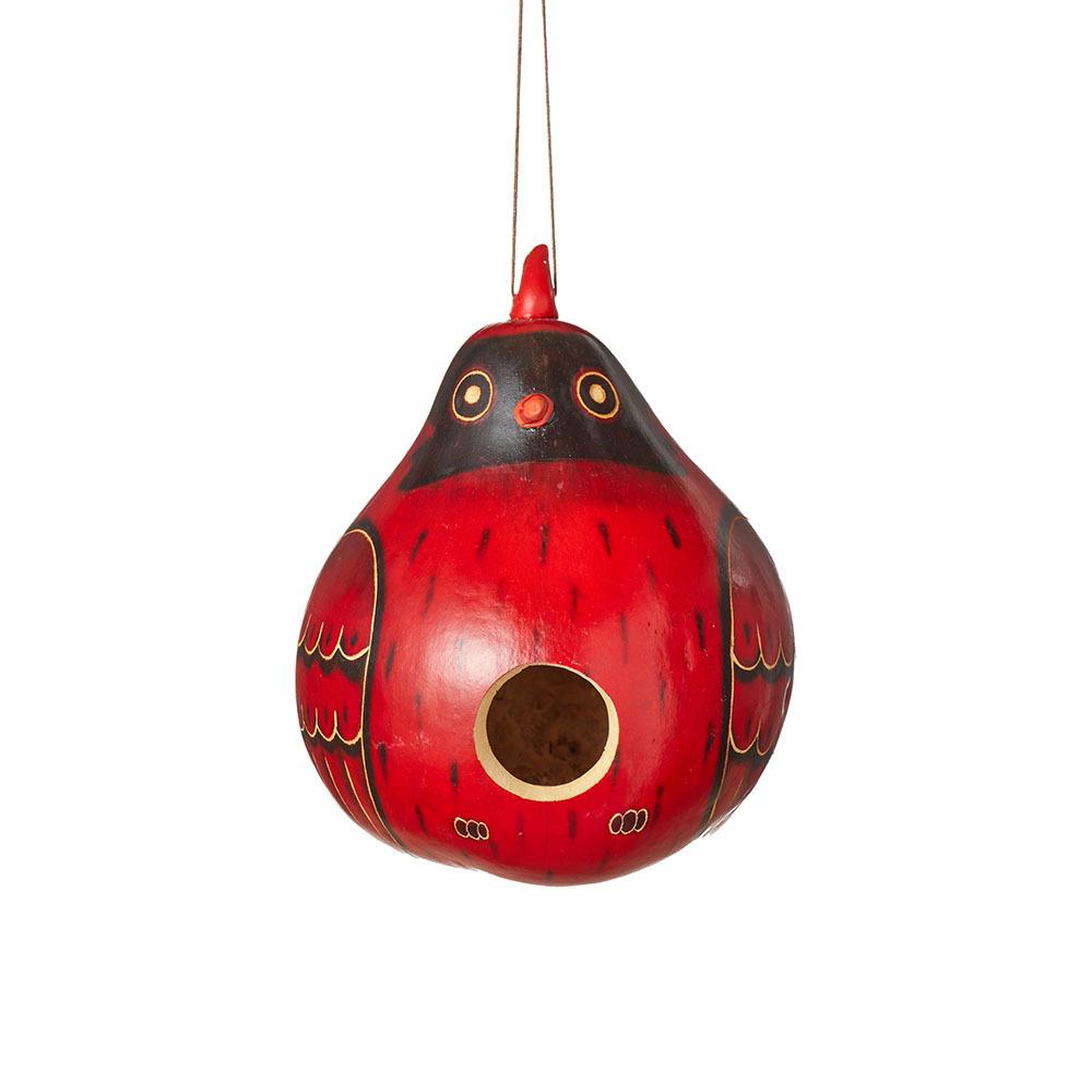 Cardinal Gourd Birdhouse
