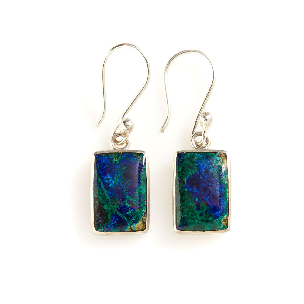 Peruvian Azurite Earrings