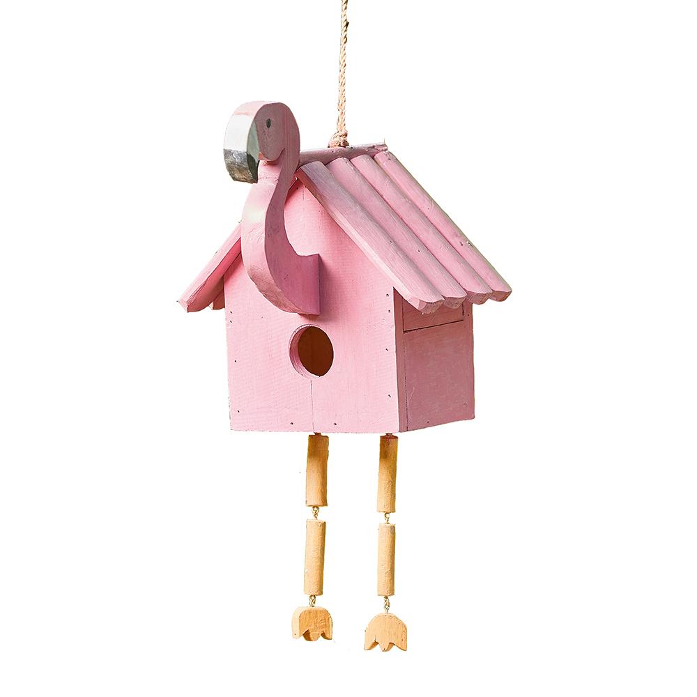 Pink Flamingo Birdhouse