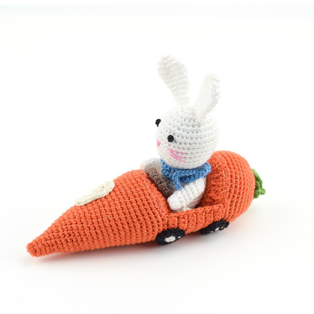 Crocheted Racer Bunny #9