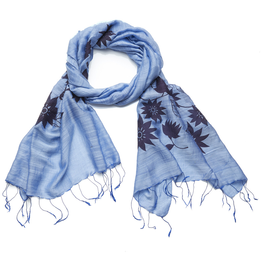 Lotus Scarf - Blue